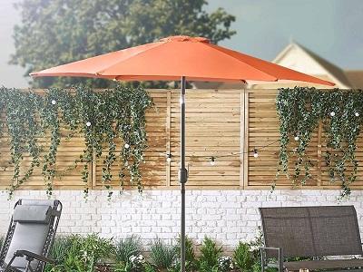 2,5m Sun Shade Terrace Balcony Miadomodo Garden Parasol Outdoor ...